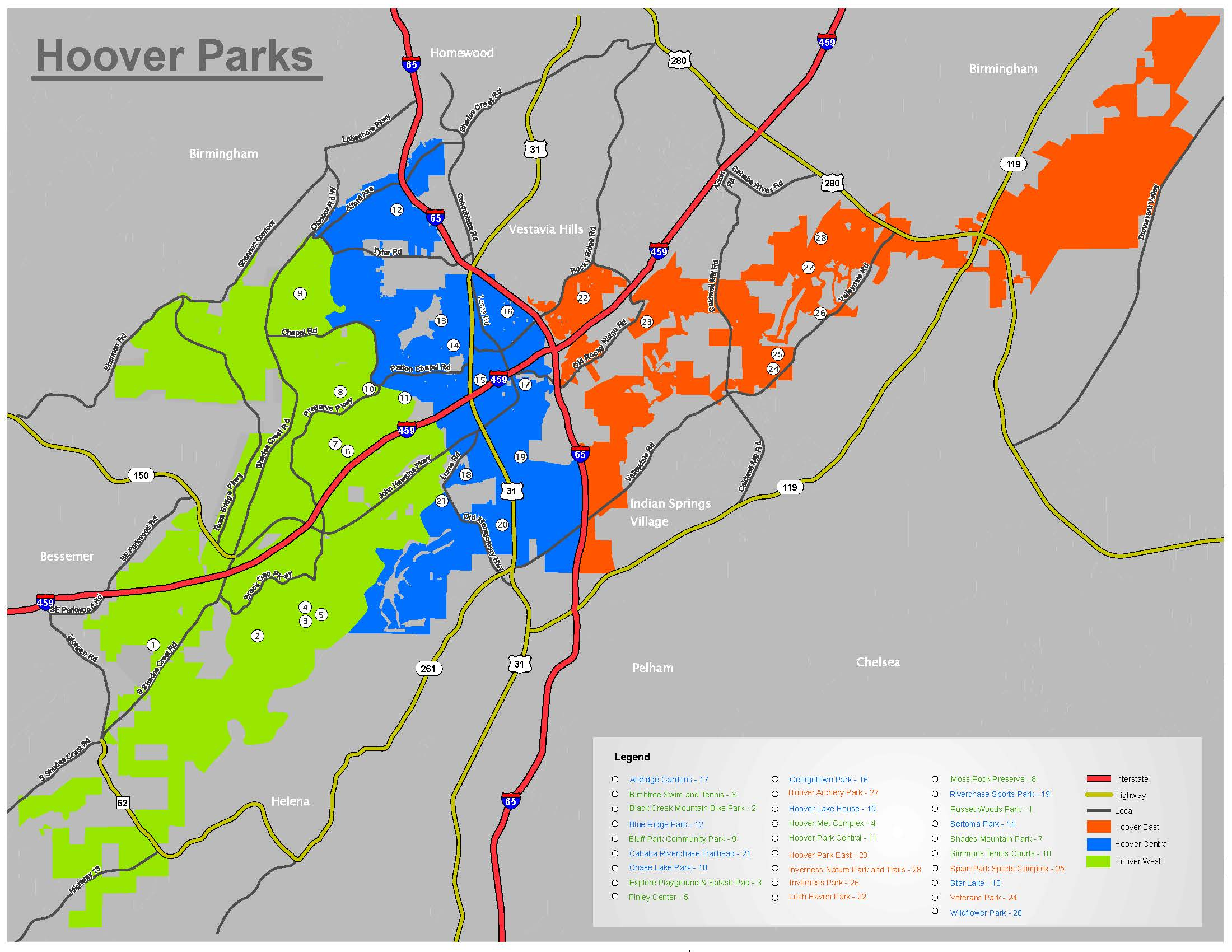 Parks Map July 2020